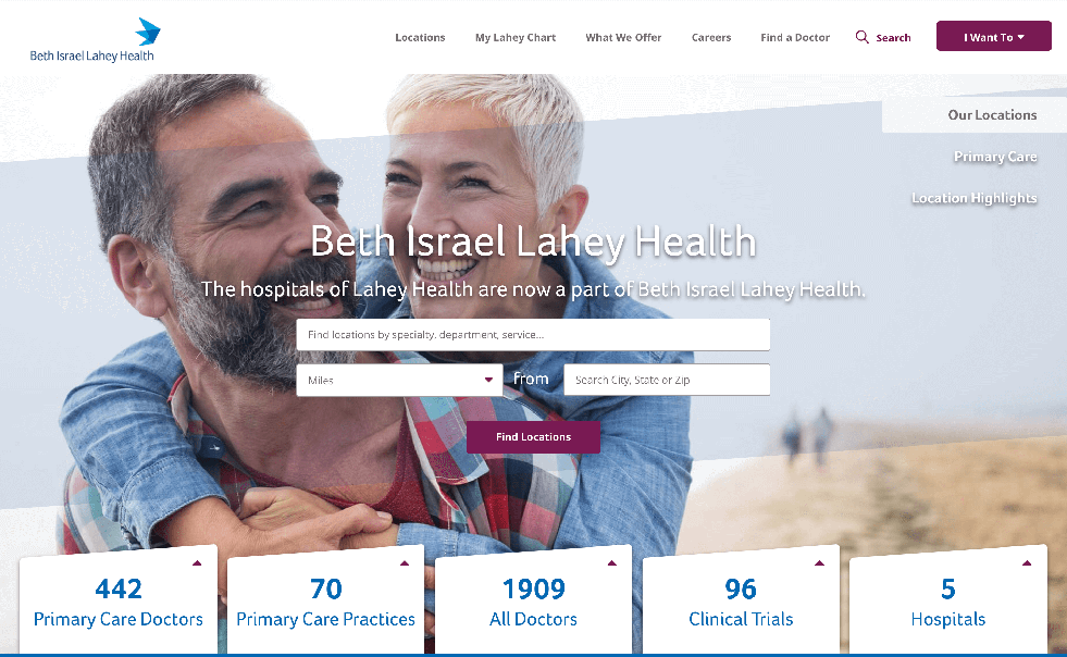 Thumail of the Beth Israel Lahey Health Strategy & Redesign case study.