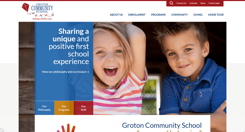 Thumail of the Groton Community School case study.