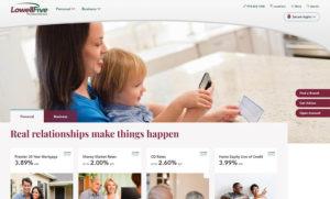 lowell five homepage design